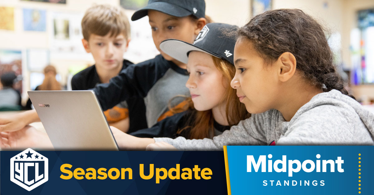 Youth Coding League Fall 2021 Regular Season Midpoint: a Look at Team Standings